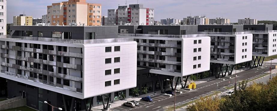 6. Bytový komplex SKY BOX, Pajštúnska ul., Bratislava, 2012