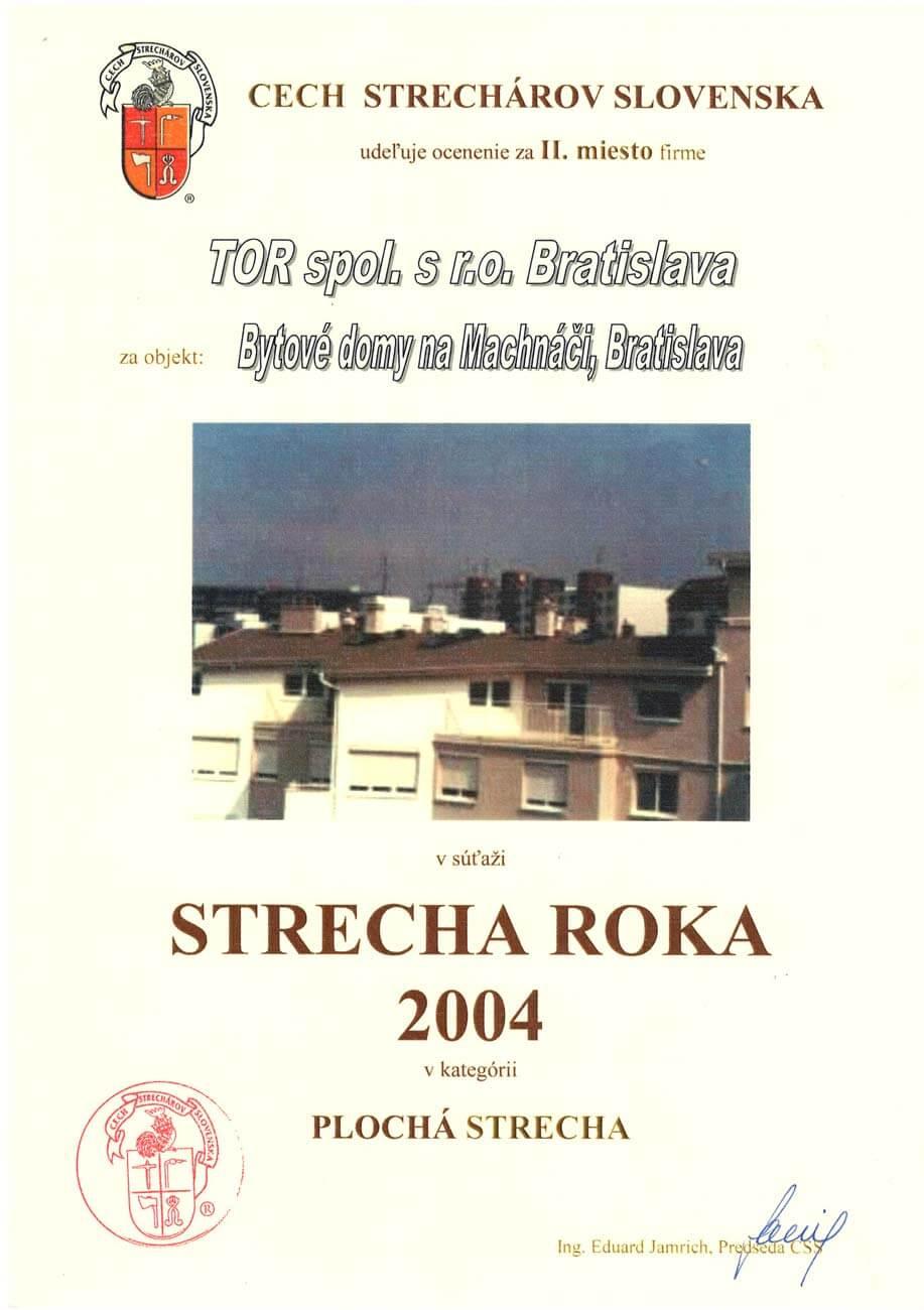 Strecha roka 2004 2. miesto