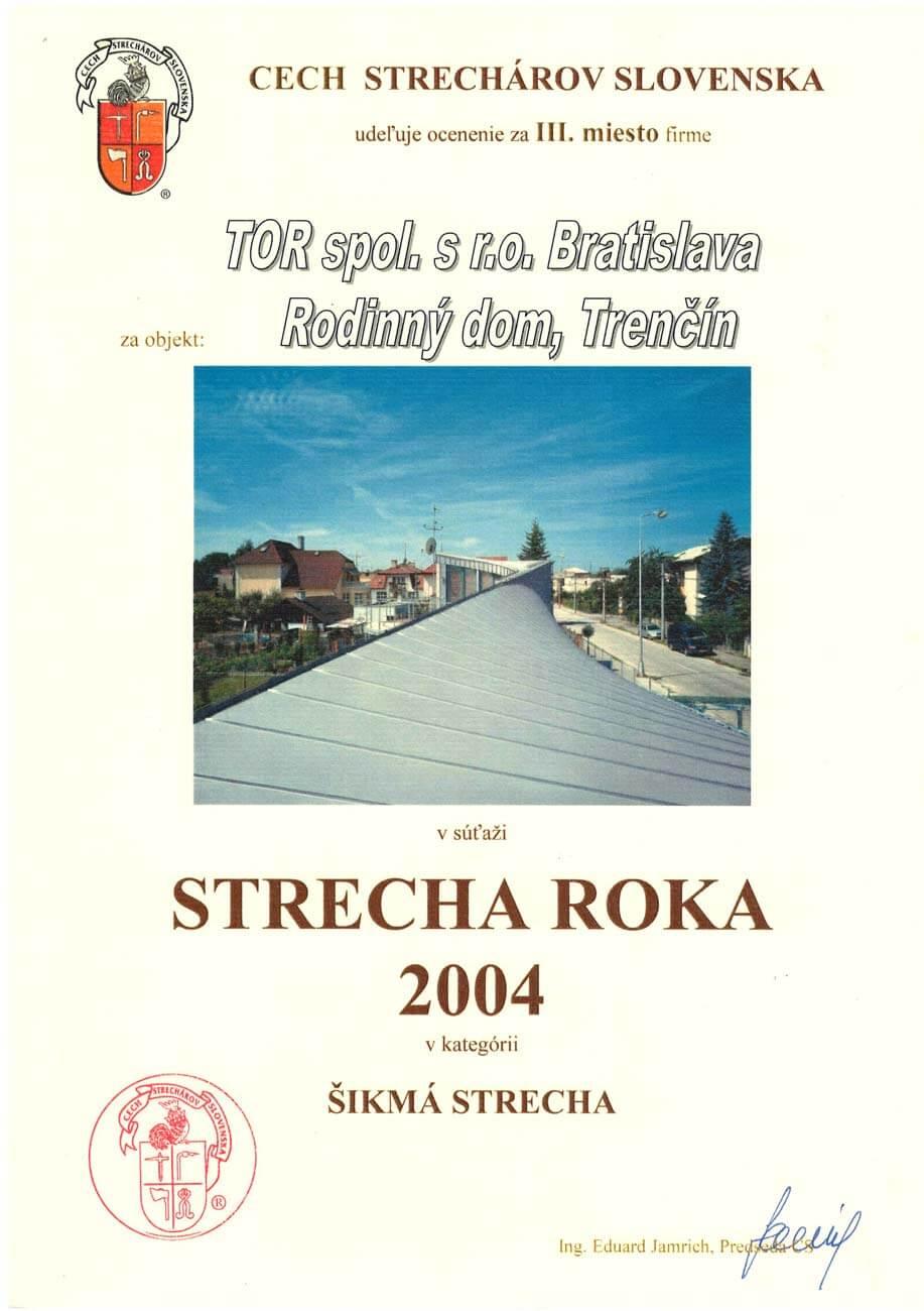 Strecha roka 2004 3. miesto