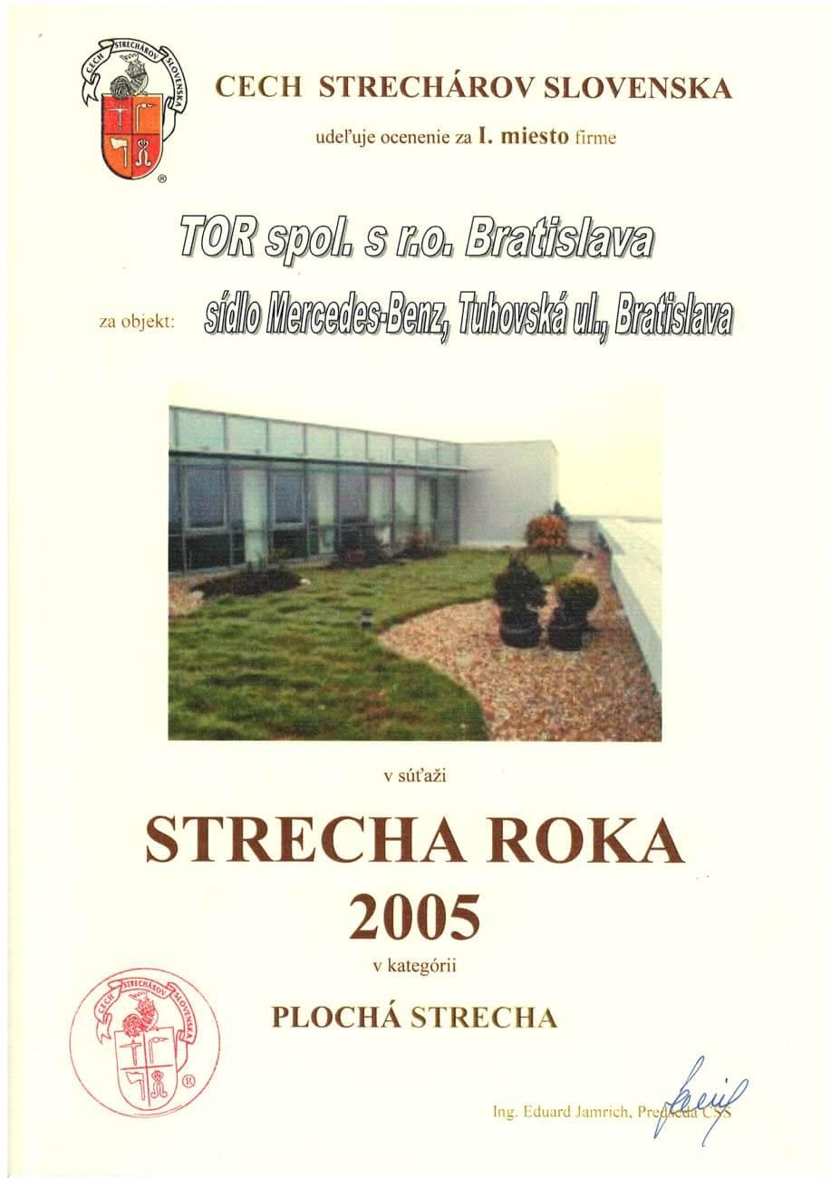 Strecha roka 2005