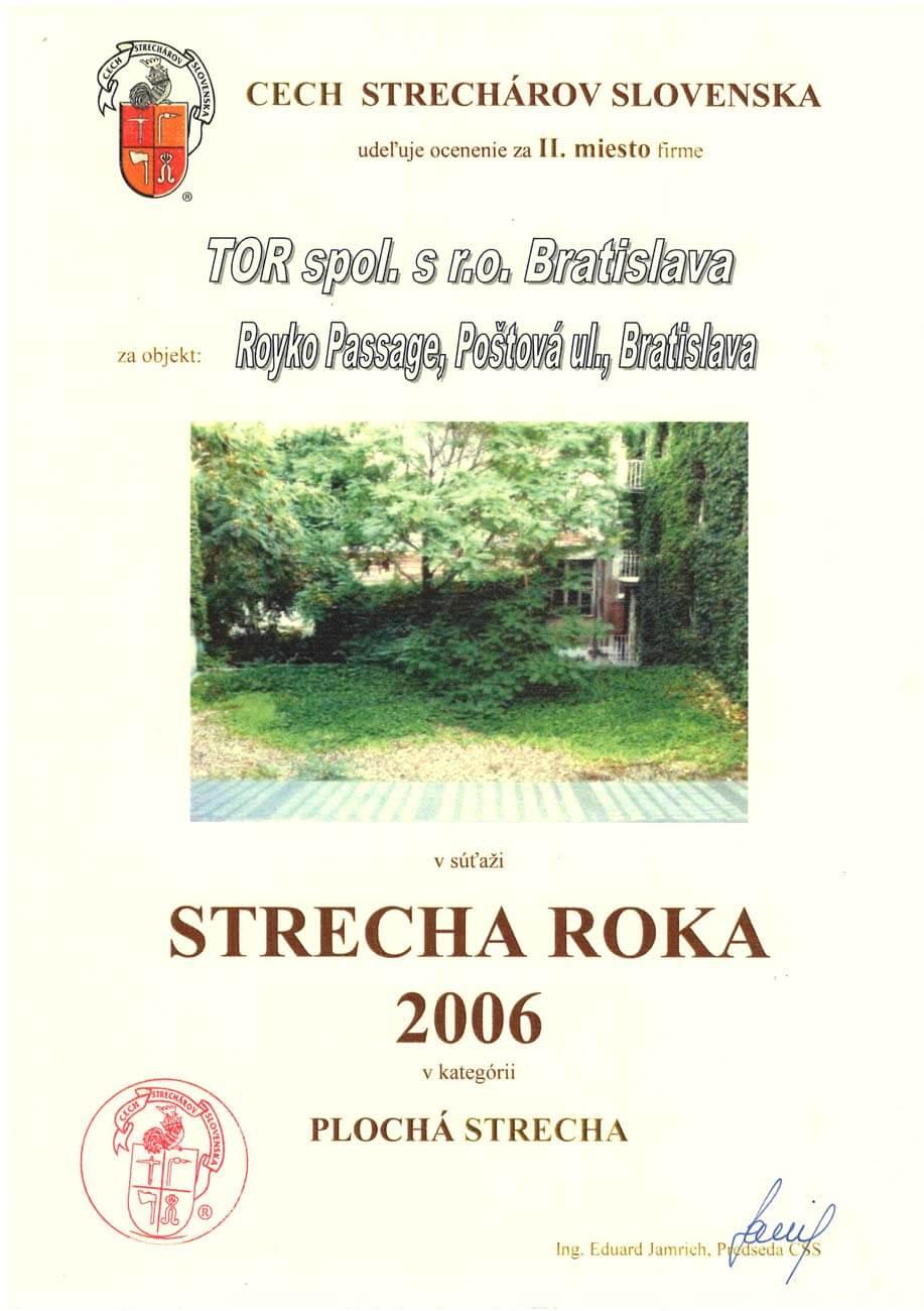 Strecha roka 2006 2.miesto