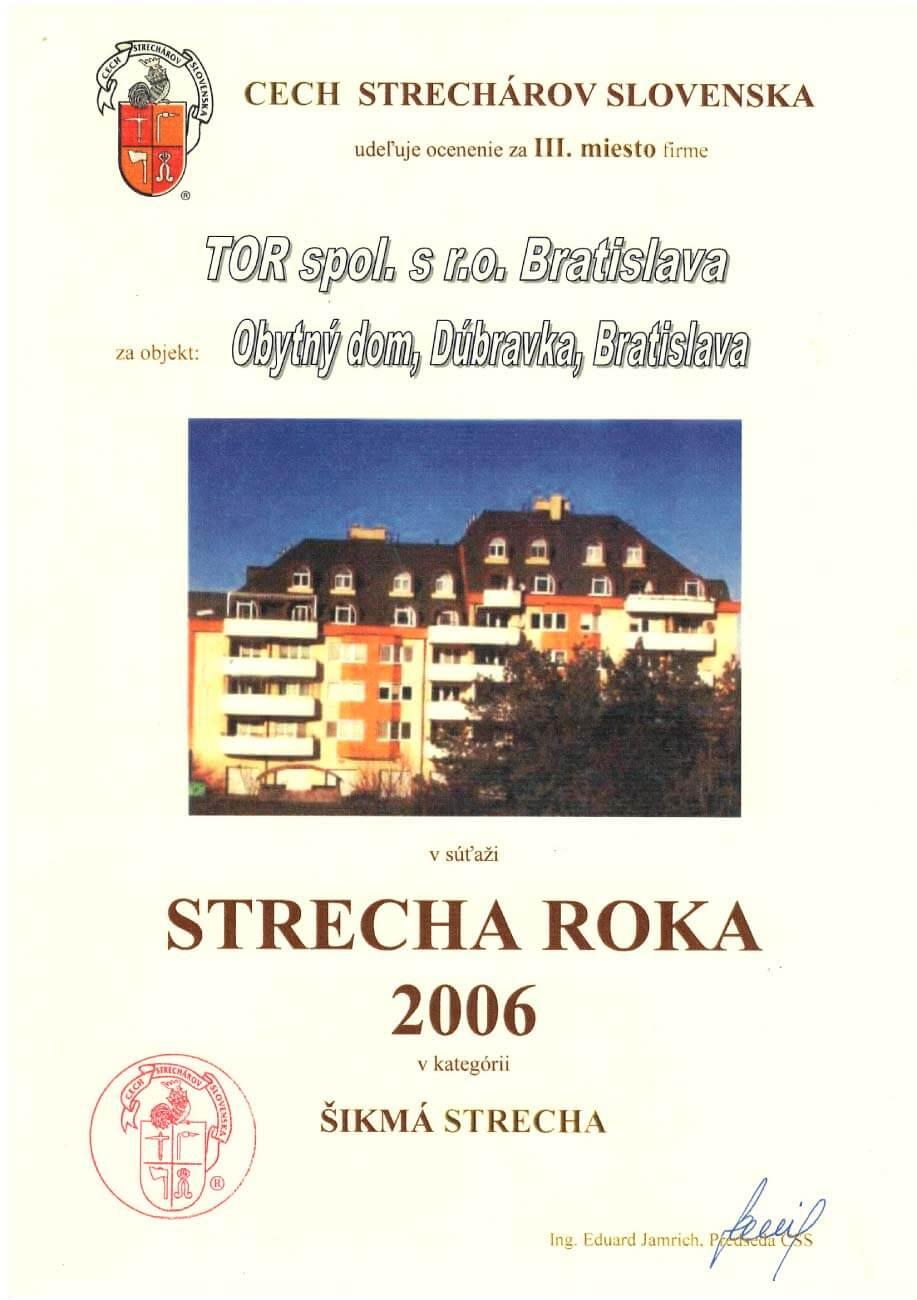 Strecha roka 2006 3. miesto