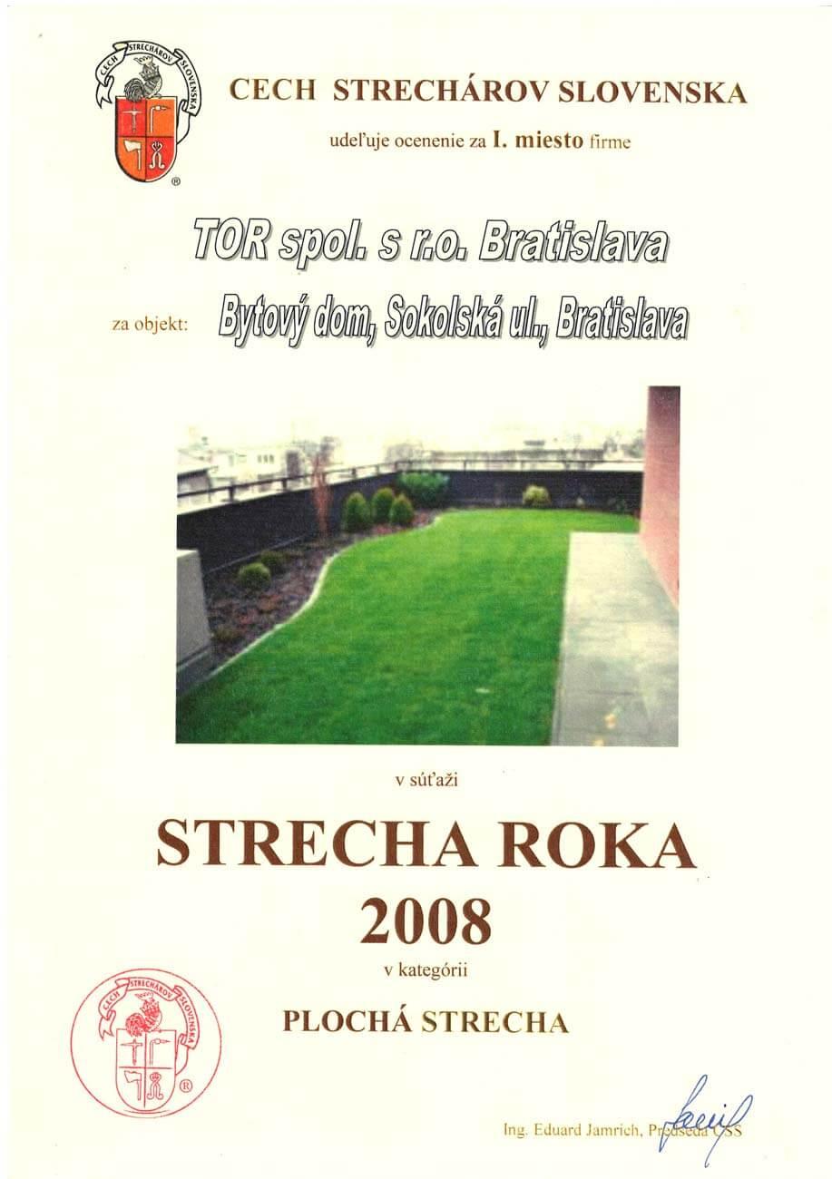 Strecha roka 2008 1. miesto