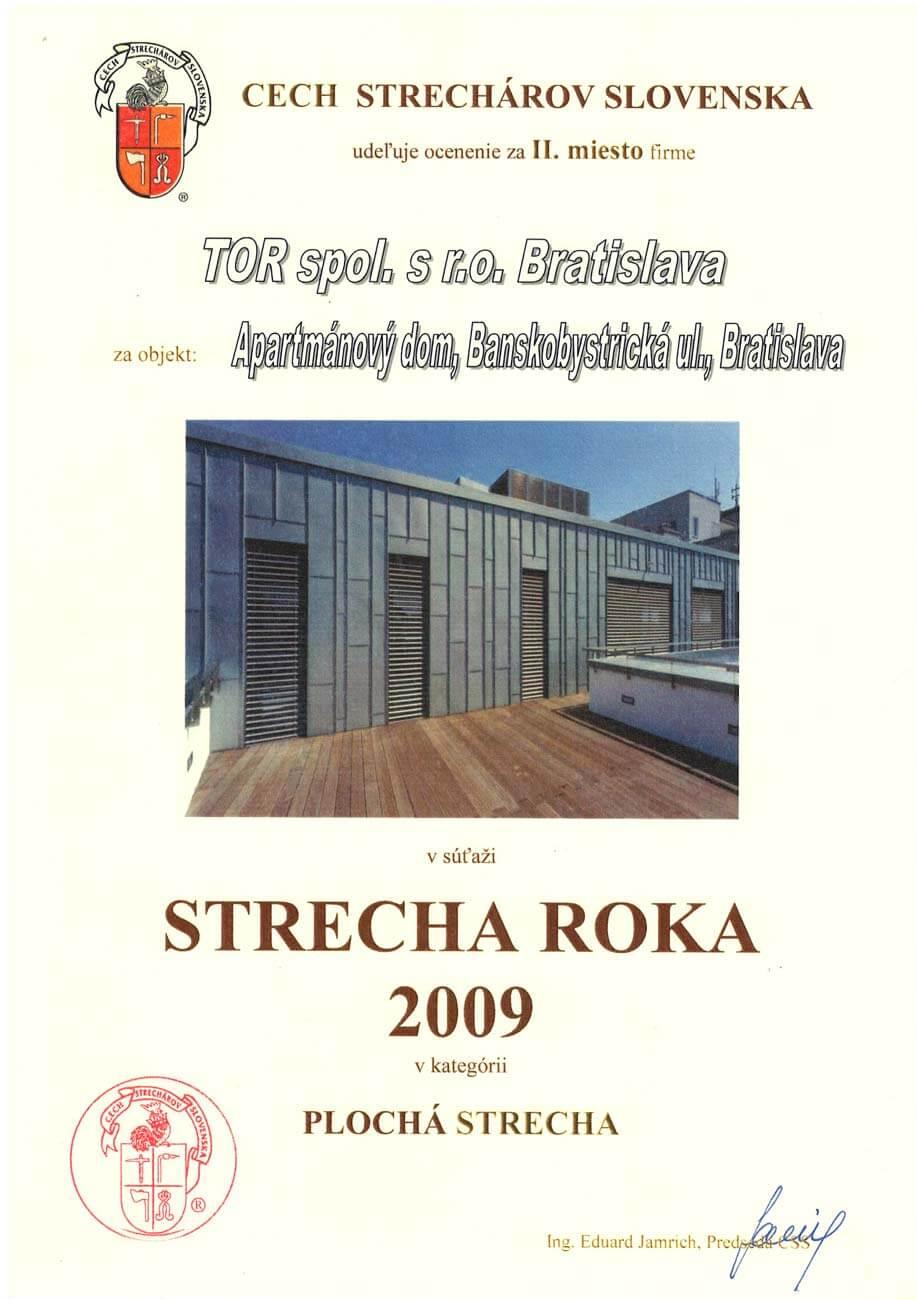Strecha roka 2009 2. miesto