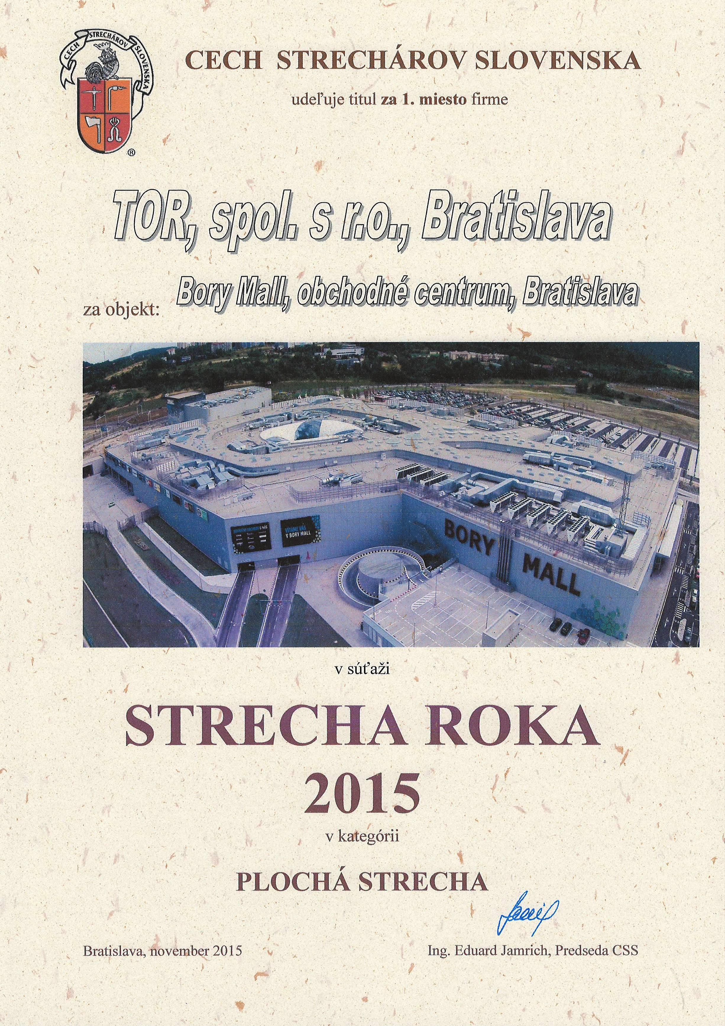 Strecha roka 2015 1.miesto